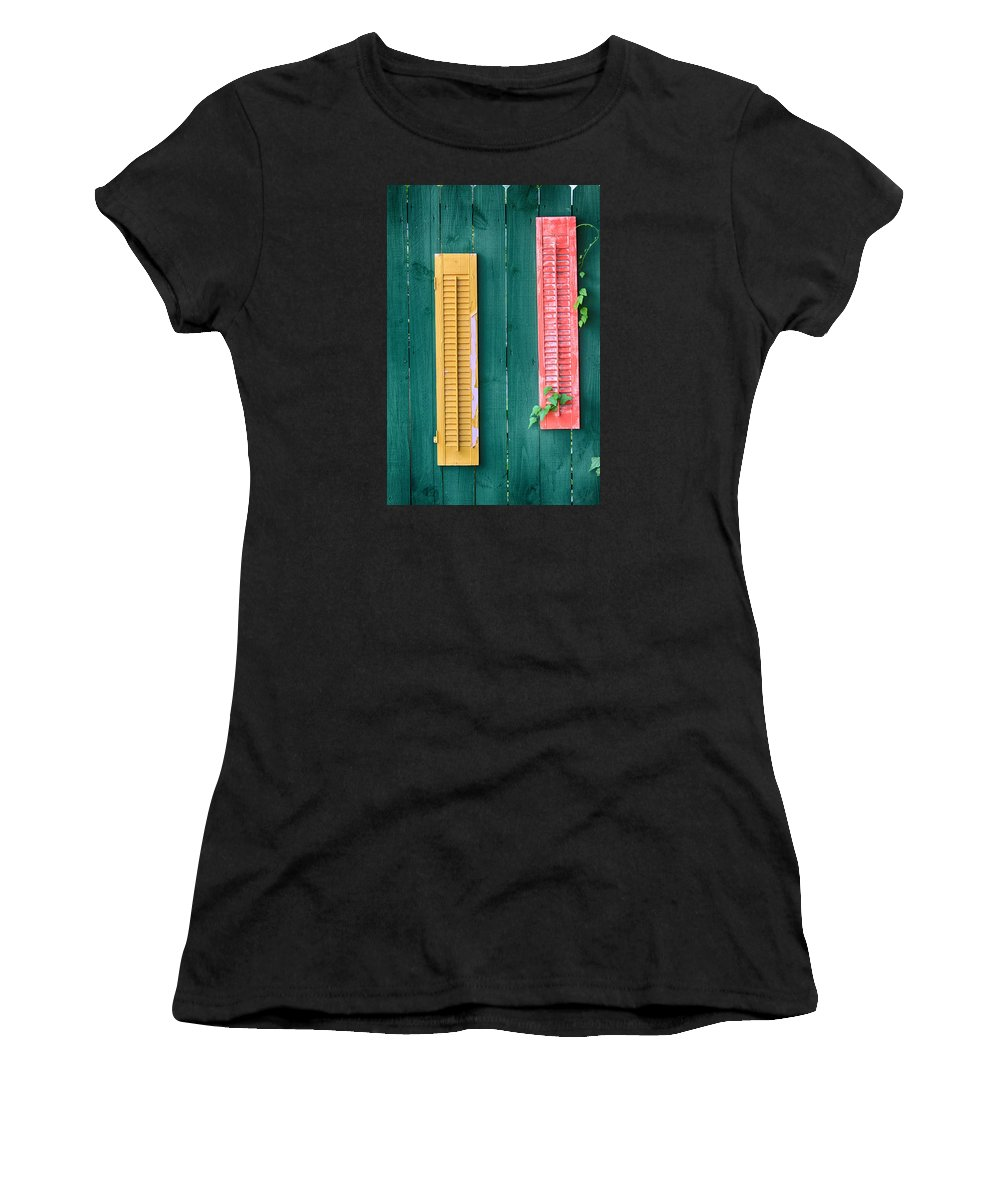 Still Life Photography Women's T-Shirt featuring the photograph Shutterbug by Mary Buck