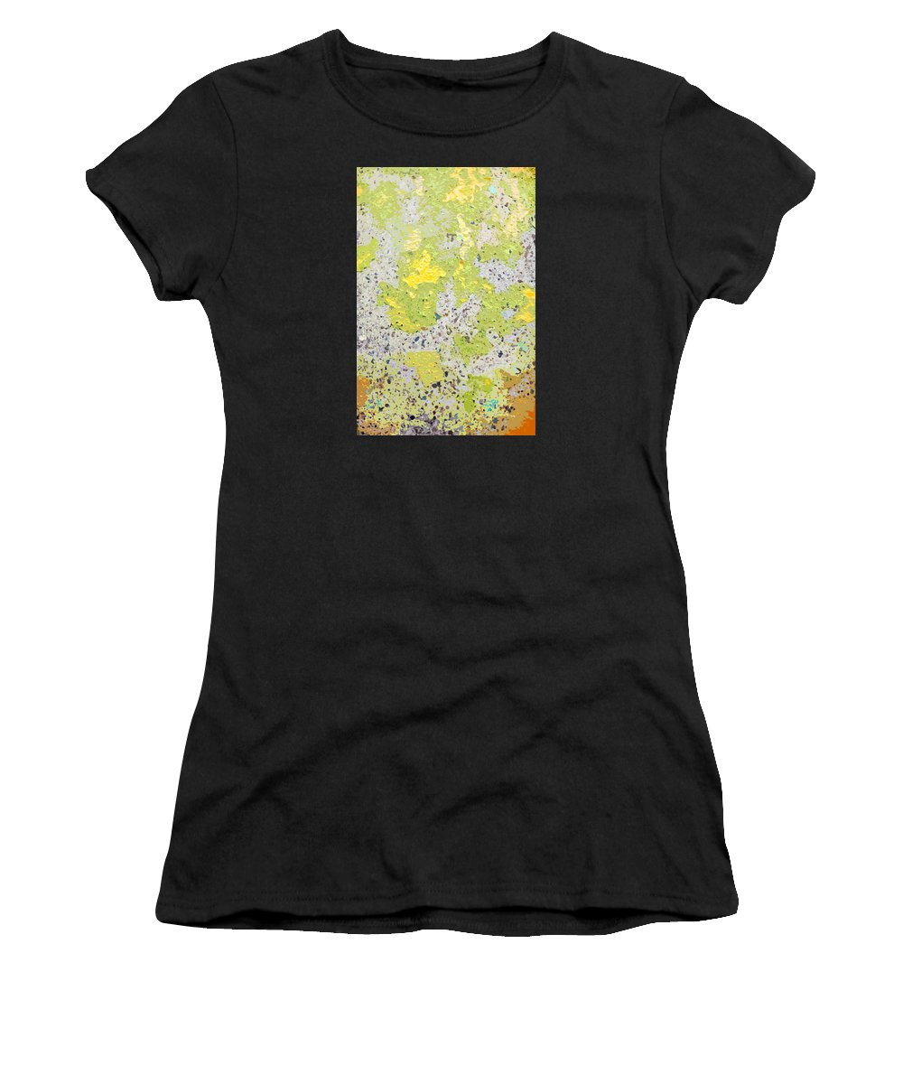 Abstract Women's T-Shirt featuring the photograph Sidewalk Abstract-16 by Art Block Collections