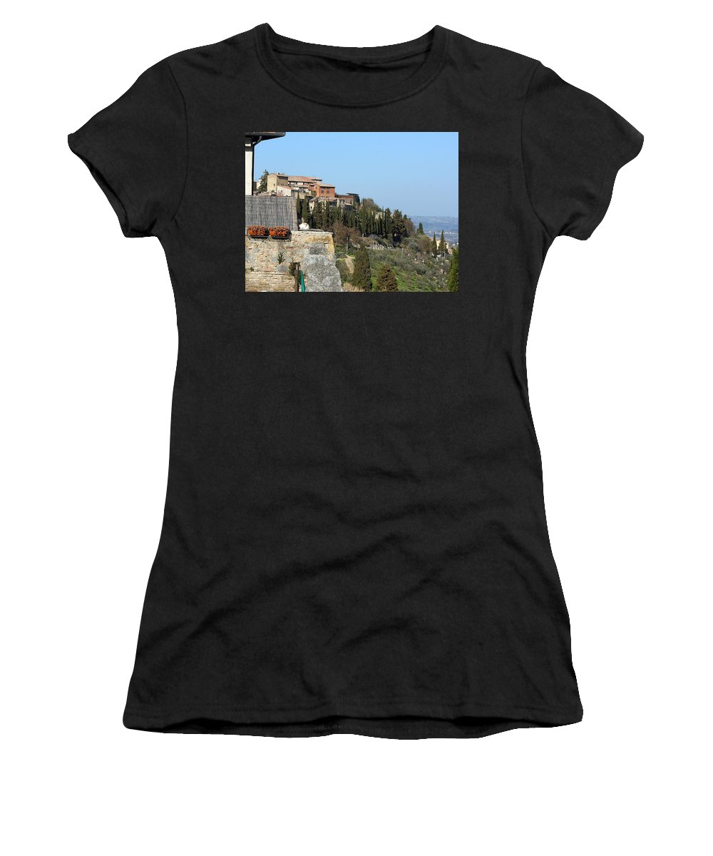 Karen Zuk Rosenblatt Women's T-Shirt featuring the photograph Siena 3 by Karen Zuk Rosenblatt