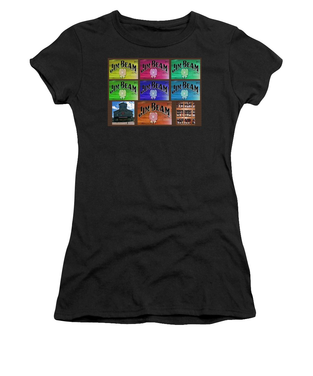 Computer Graphics Women's T-Shirt (Athletic Fit) featuring the photograph Signs Of Jim Beam by Marian Bell