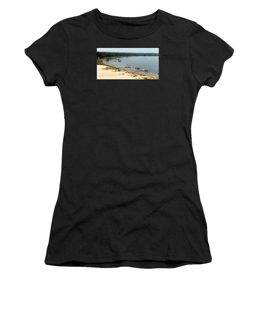 Silver Lake Women's T-Shirt featuring the photograph Silver Lake Michigan by Wendy Gertz
