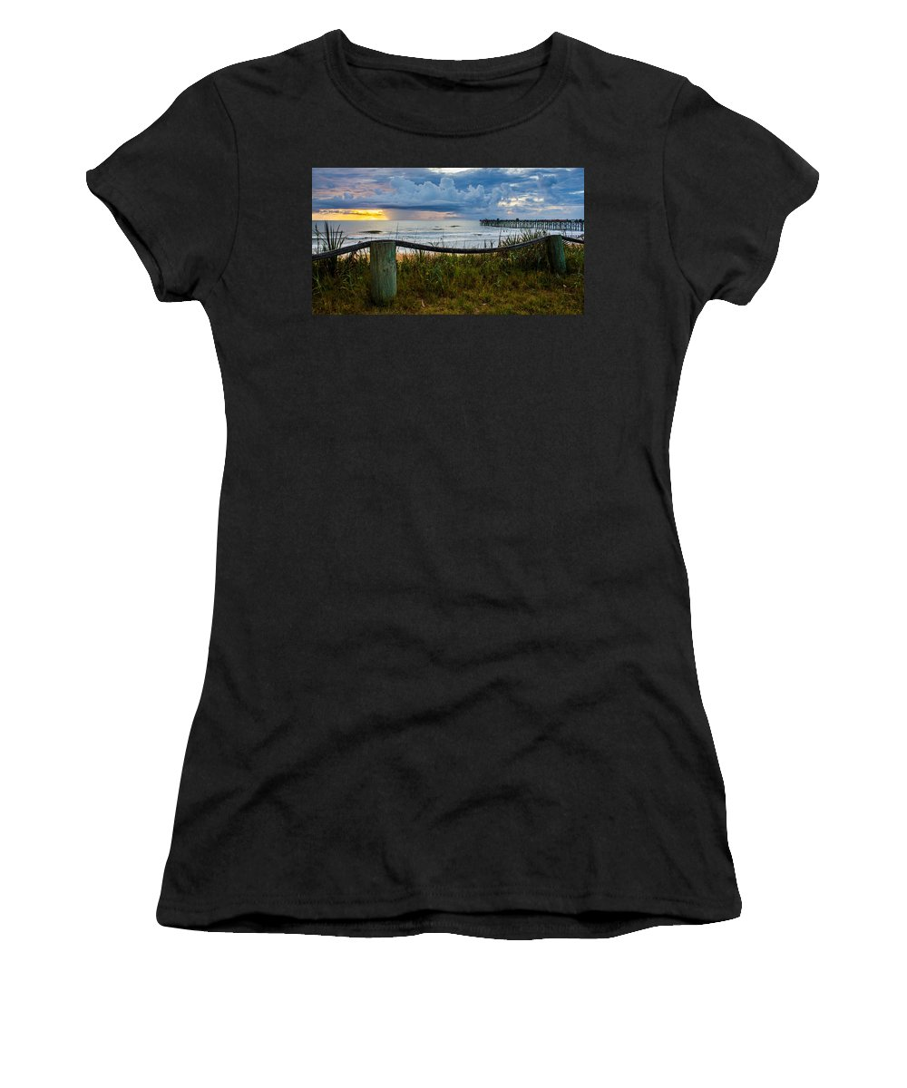 Women's T-Shirt featuring the photograph Simple Flager by Tyson Kinnison