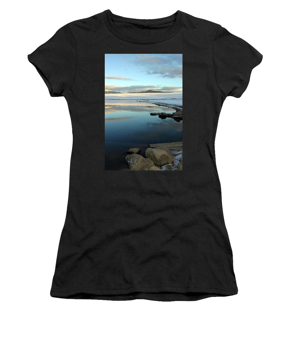 Landscape Women's T-Shirt featuring the photograph Sky Lake by Scott Mahon