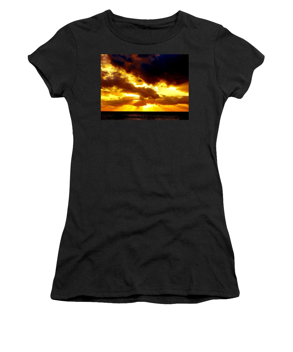 Golden Women's T-Shirt (Athletic Fit) featuring the photograph Skygold by Amar Sheow