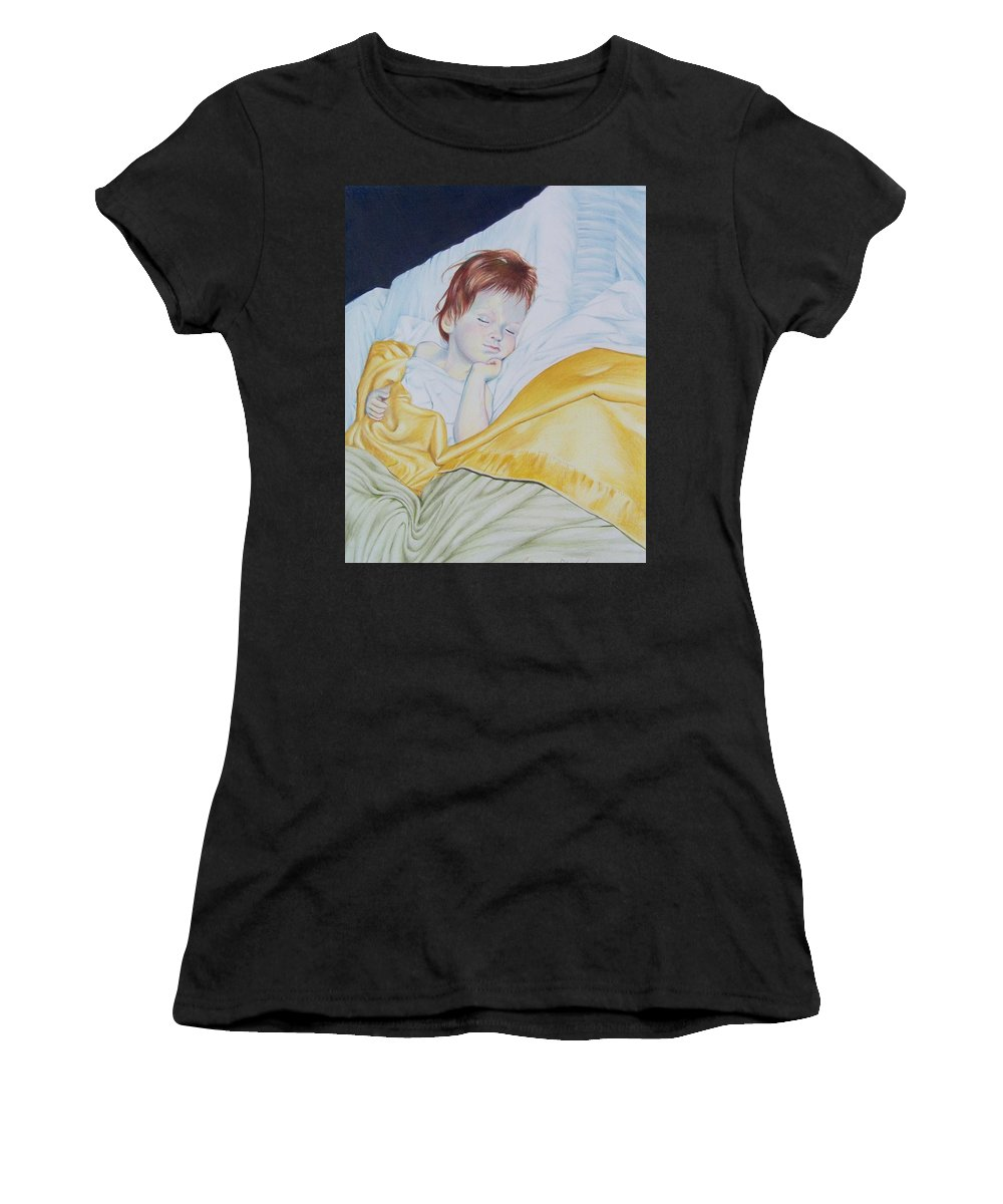 Baby Women's T-Shirt (Athletic Fit) featuring the mixed media Sleeping Beauty by Constance Drescher
