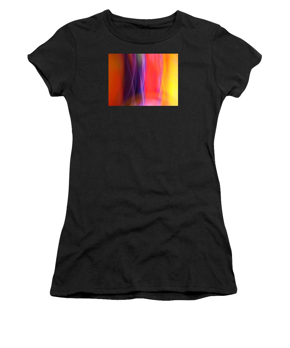 Abstract Women's T-Shirt featuring the photograph Slightly Sedated by James Welch