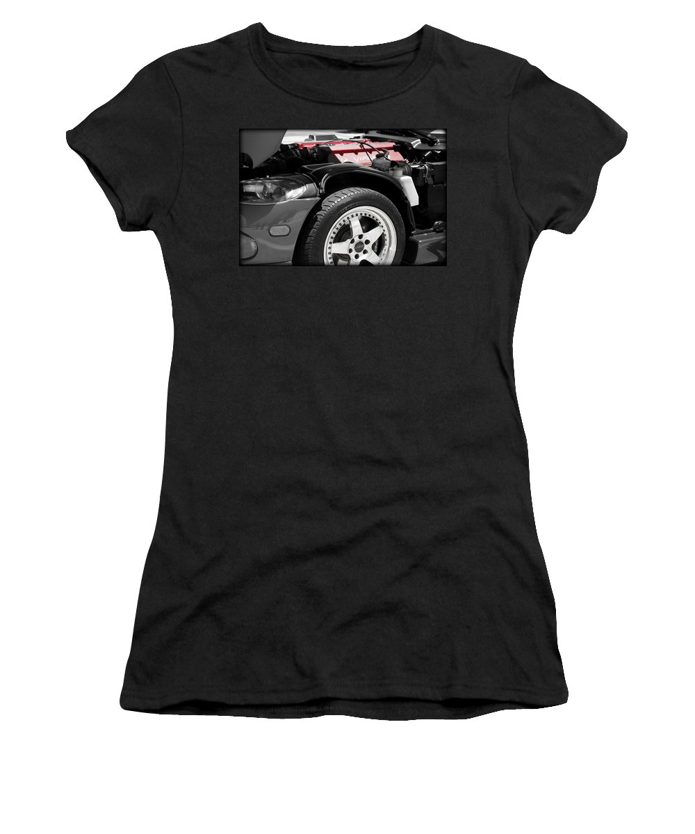 Dodge Women's T-Shirt featuring the photograph Snake Bite by Ricky Barnard