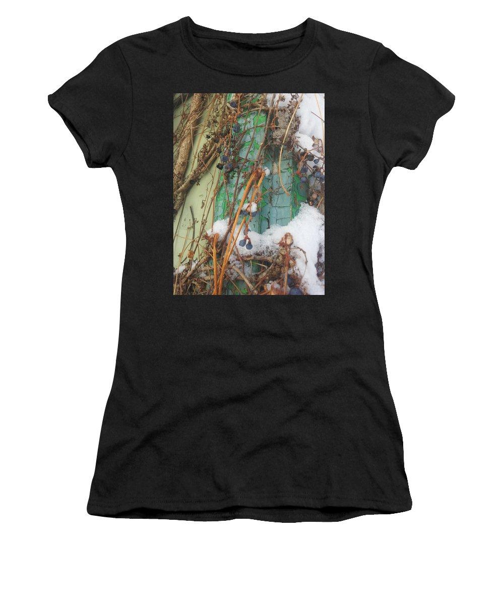 Street Art Women's T-Shirt (Athletic Fit) featuring the digital art Snow Vines by Zac AlleyWalker Lowing