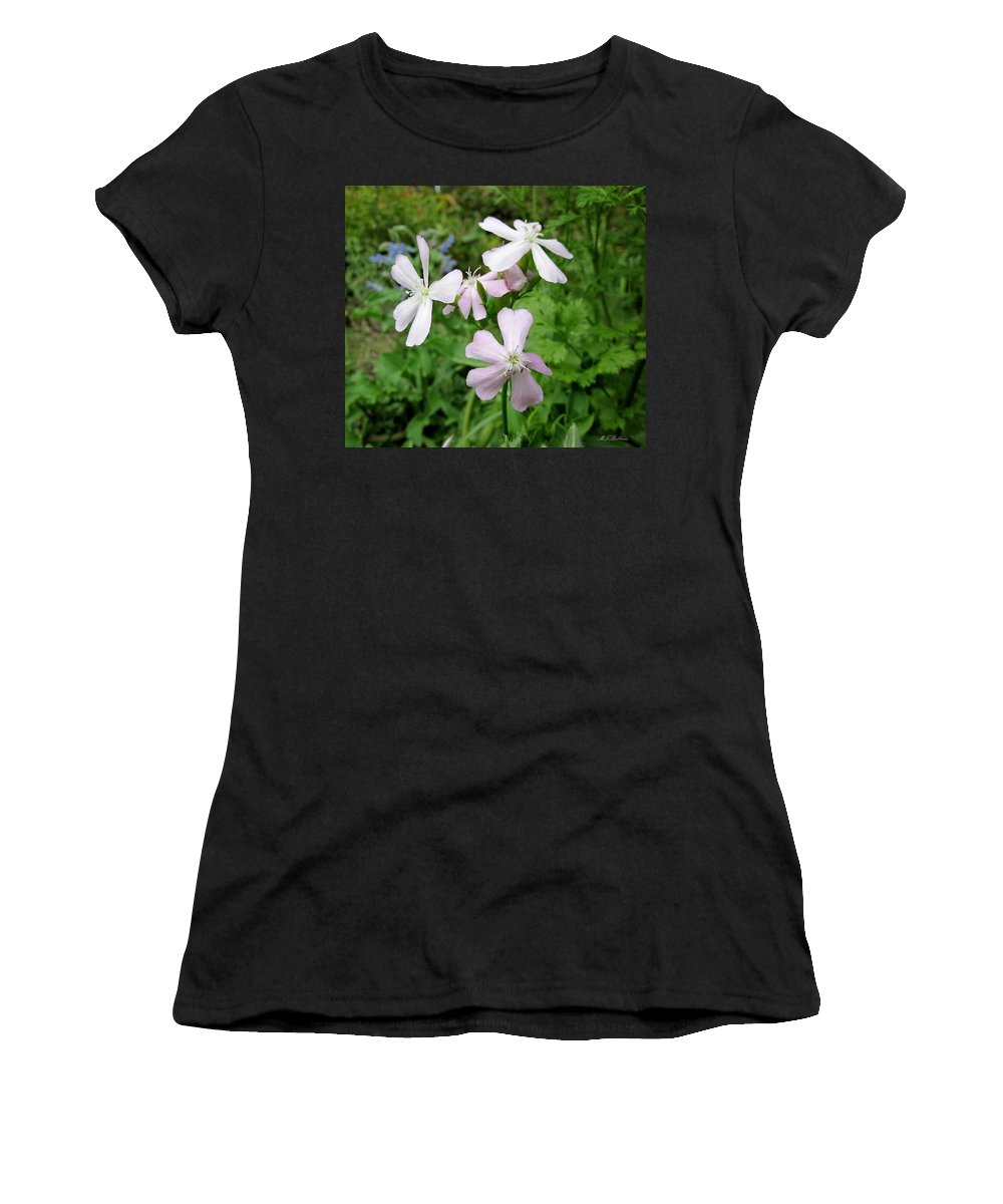 Herb Women's T-Shirt (Athletic Fit) featuring the photograph Soapwort Flowers by MTBobbins Photography