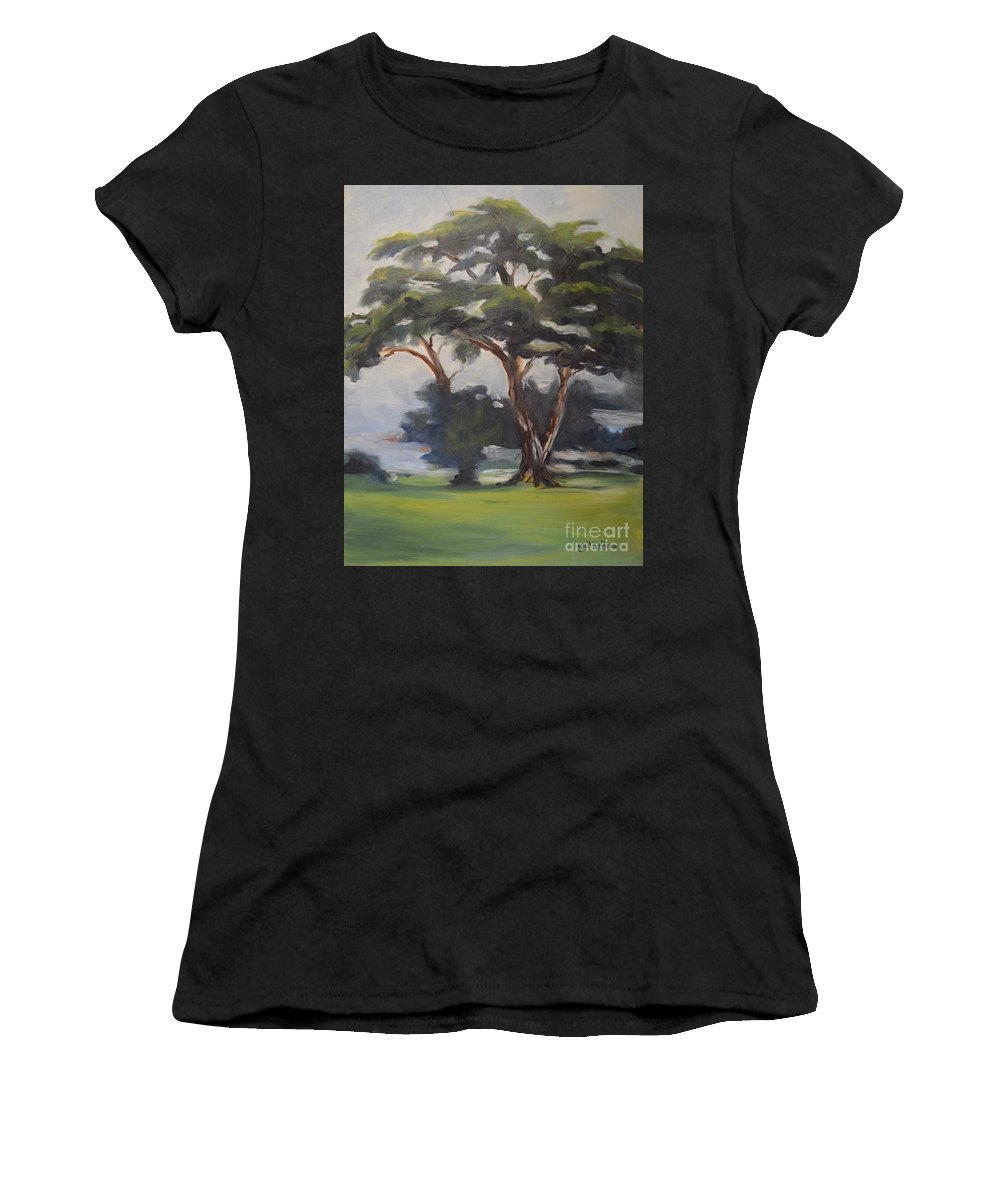 Tree Women's T-Shirt featuring the painting Soft Trees by Gail Heffron