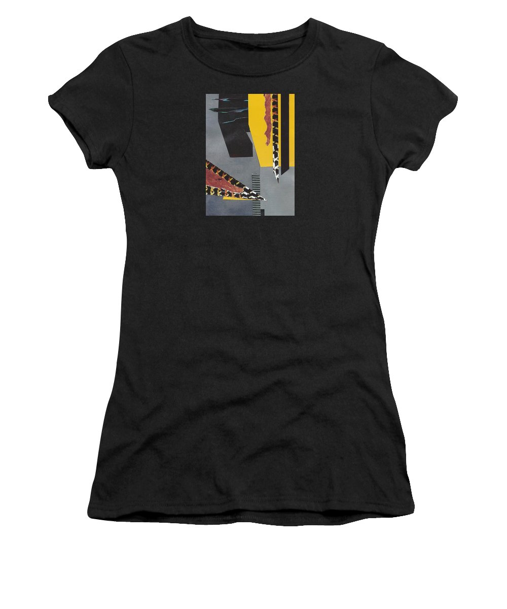 Mixed Media Women's T-Shirt featuring the mixed media Something From Nothing by Barbara Bennett