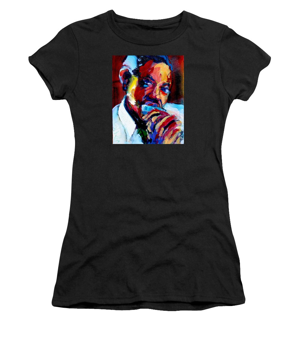 Sonny Boy Williamson Women's T-Shirt featuring the painting Sonny Boy by Les Leffingwell
