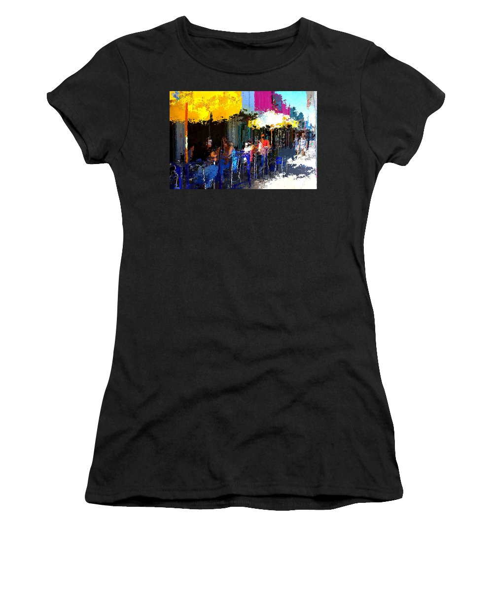 Austin Women's T-Shirt featuring the mixed media South Congress by Terence Morrissey