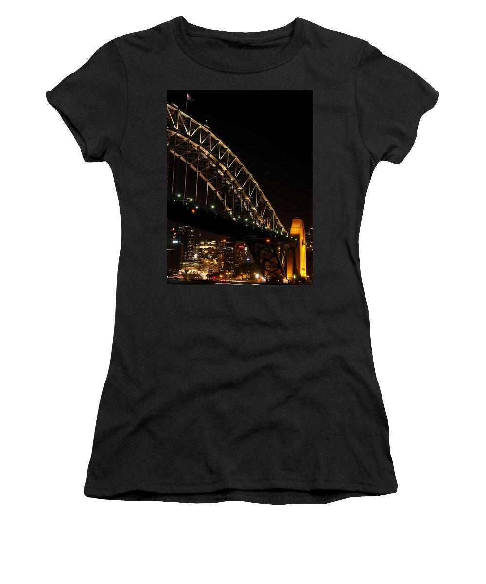 Sydney Harbour Bridge Women's T-Shirt (Athletic Fit) featuring the photograph South Sydney Harbour Bridge by Kaleidoscopik Photography