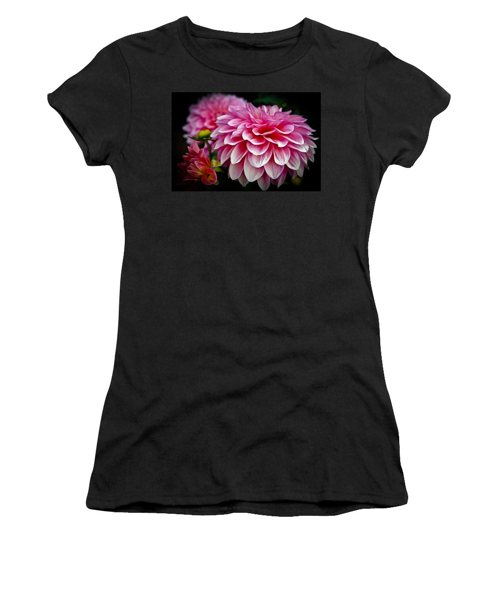 Dahlia Women's T-Shirt (Athletic Fit) featuring the photograph Special Occasion by Athena Mckinzie
