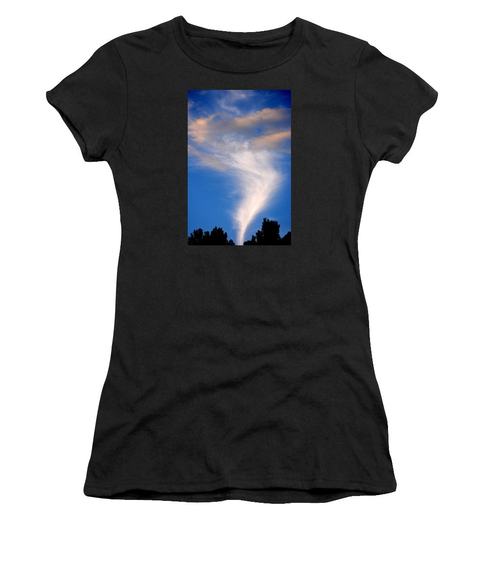 Sky Women's T-Shirt (Athletic Fit) featuring the photograph Spectacular Show by Tamara Michael