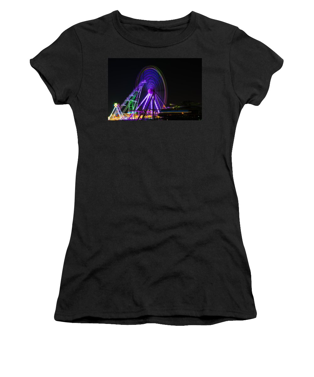 Spinning Women's T-Shirt featuring the photograph Spinning Wheel by Bill Cannon