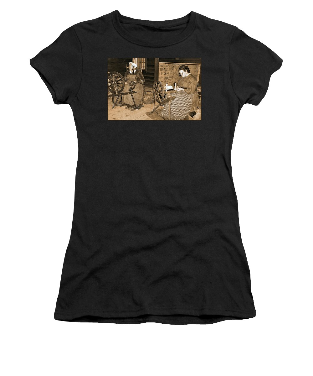 Spinning Women's T-Shirt (Athletic Fit) featuring the photograph Spinning Wheel by Nadine Lewis