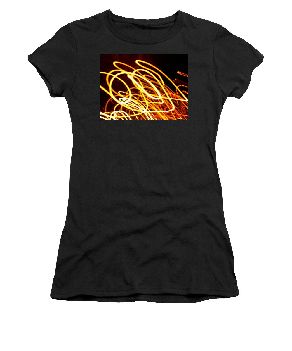 New Women's T-Shirt (Athletic Fit) featuring the photograph Spiral Light Among Dwellers About The City 2 by Paulo Guimaraes