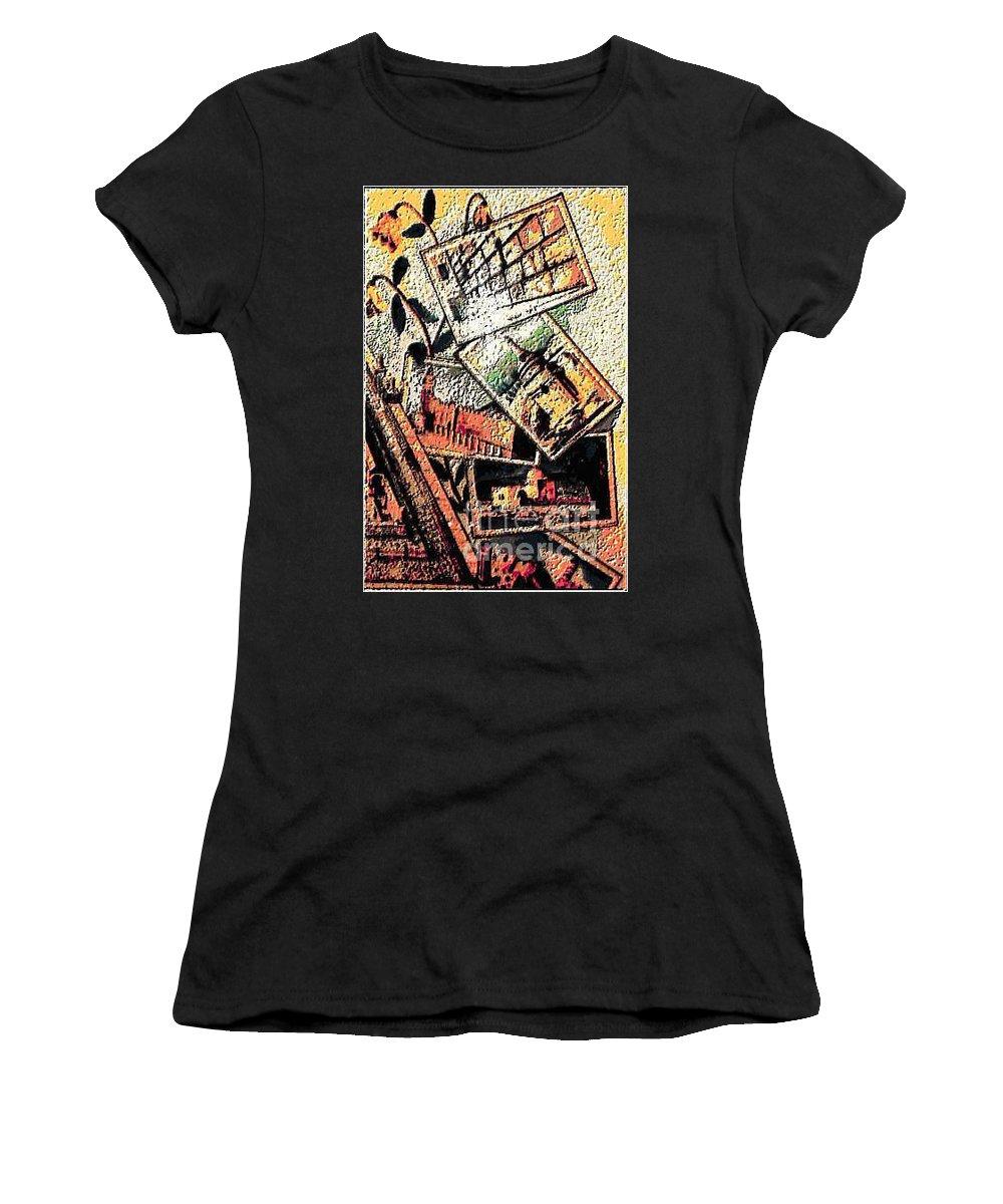 Hollilandimage Women's T-Shirt featuring the digital art Spirtuality II by Yael VanGruber