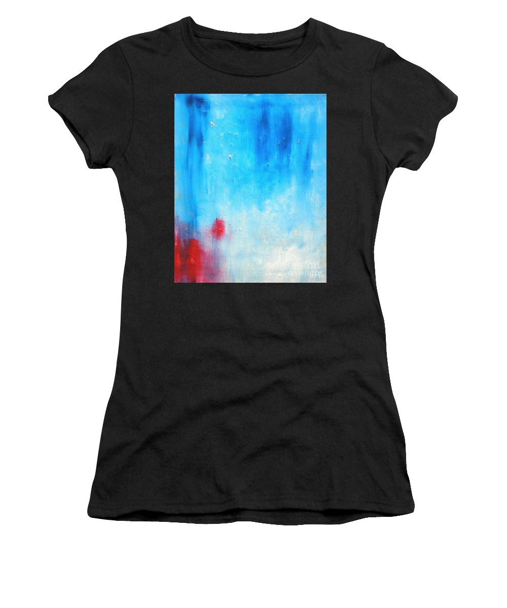 Abstract Painting Women's T-Shirt featuring the painting Spot by Jeff Barrett