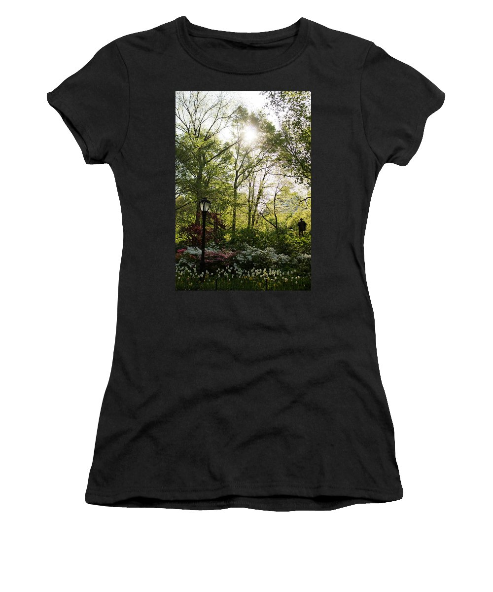 Spring Women's T-Shirt featuring the photograph Spring Day In The Park by Kathleen Odenthal