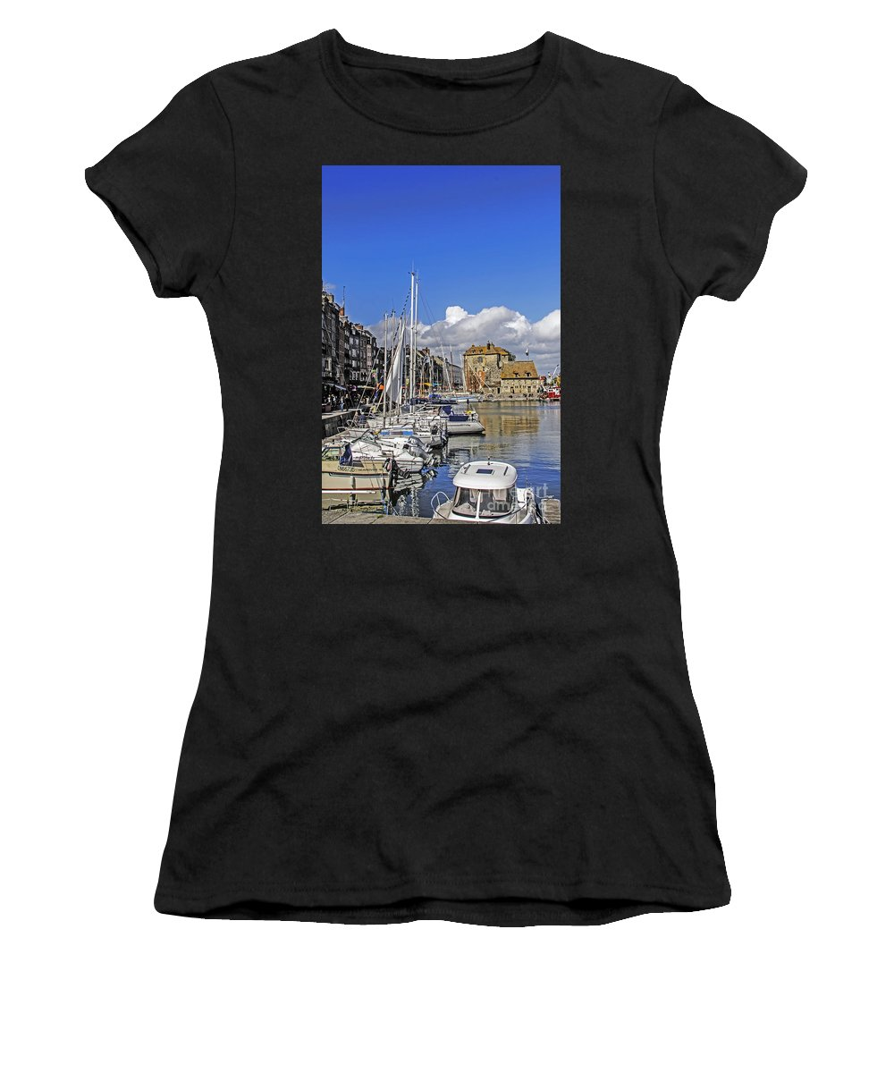 Travel Women's T-Shirt (Athletic Fit) featuring the photograph Spring In Honfleur by Elvis Vaughn