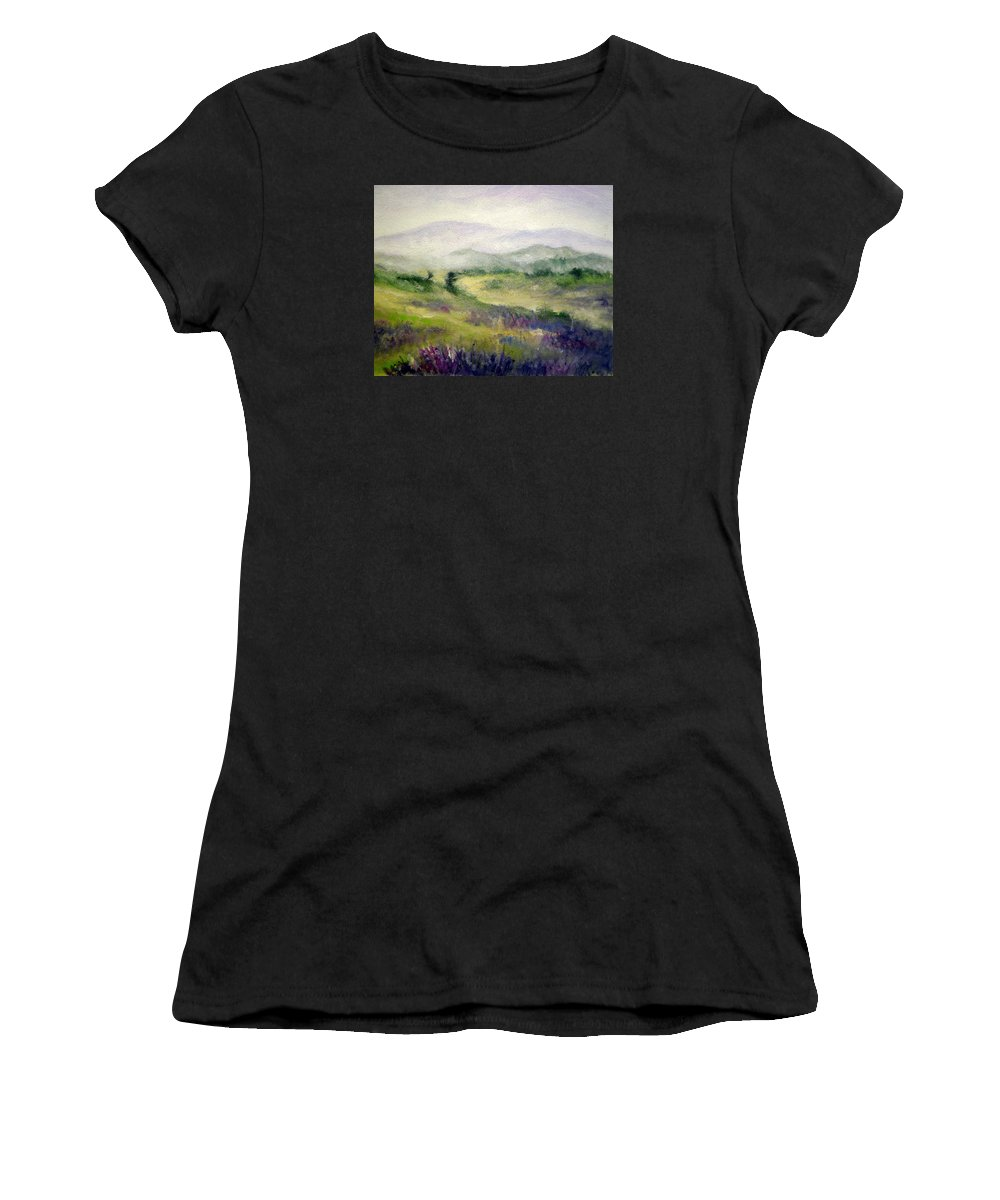 Spring Women's T-Shirt featuring the painting Mountain Spring Iv by Mary Taglieri