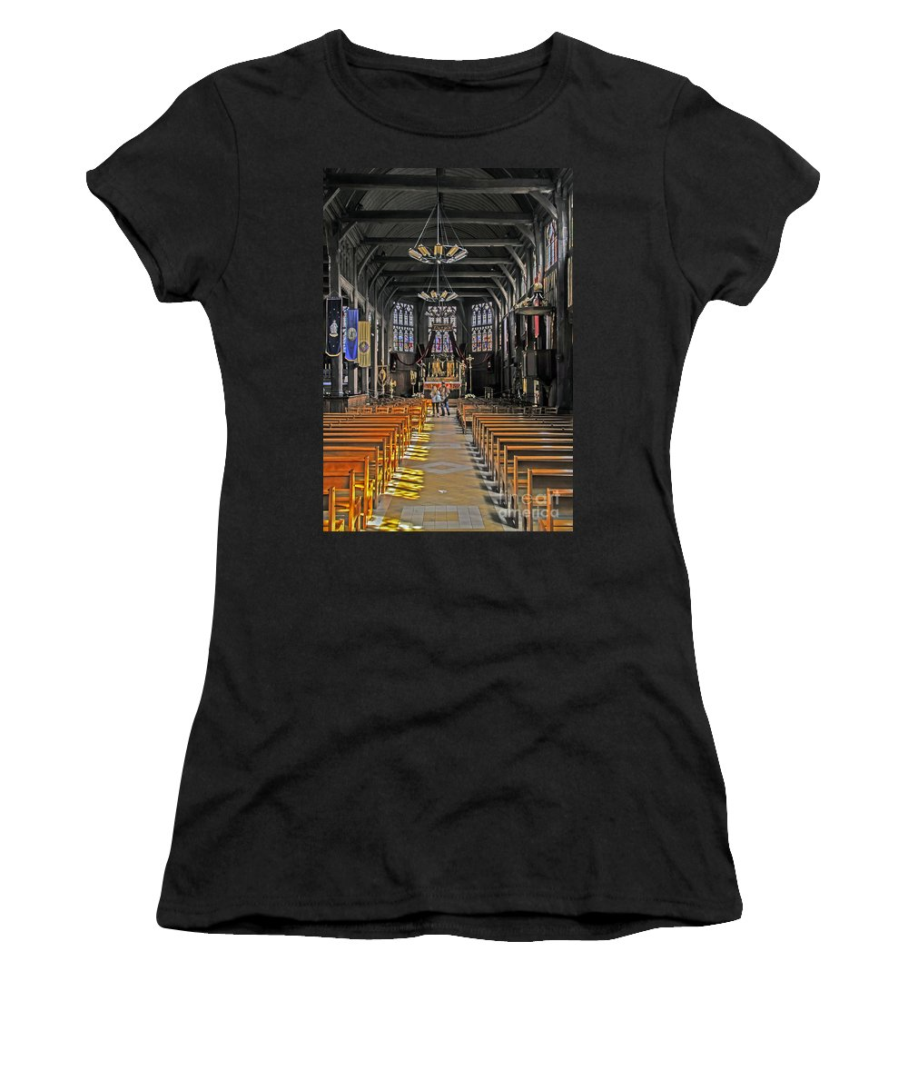 Travel Women's T-Shirt (Athletic Fit) featuring the photograph St. Catherine's Of Honfleur by Elvis Vaughn