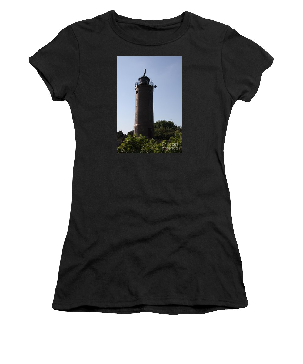 Lighthouse Women's T-Shirt featuring the photograph St. Peter-ording Lighthouse - North Sea - Germany by Christiane Schulze Art And Photography
