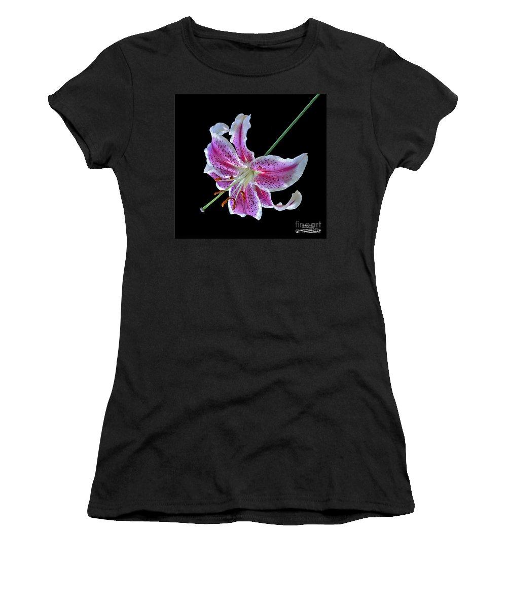 Flower Women's T-Shirt featuring the photograph Stargazer 2 by Rebecca Morgan