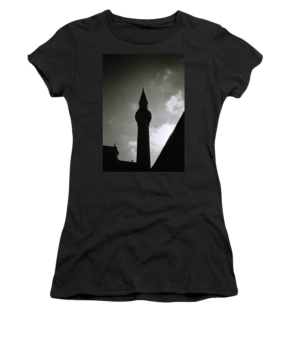 Mysterious Women's T-Shirt (Athletic Fit) featuring the photograph Stark Istanbul by Shaun Higson