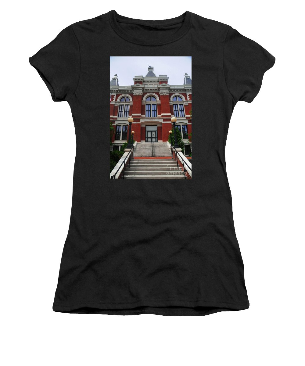 State Women's T-Shirt (Athletic Fit) featuring the photograph State Court Building by Kathleen Struckle