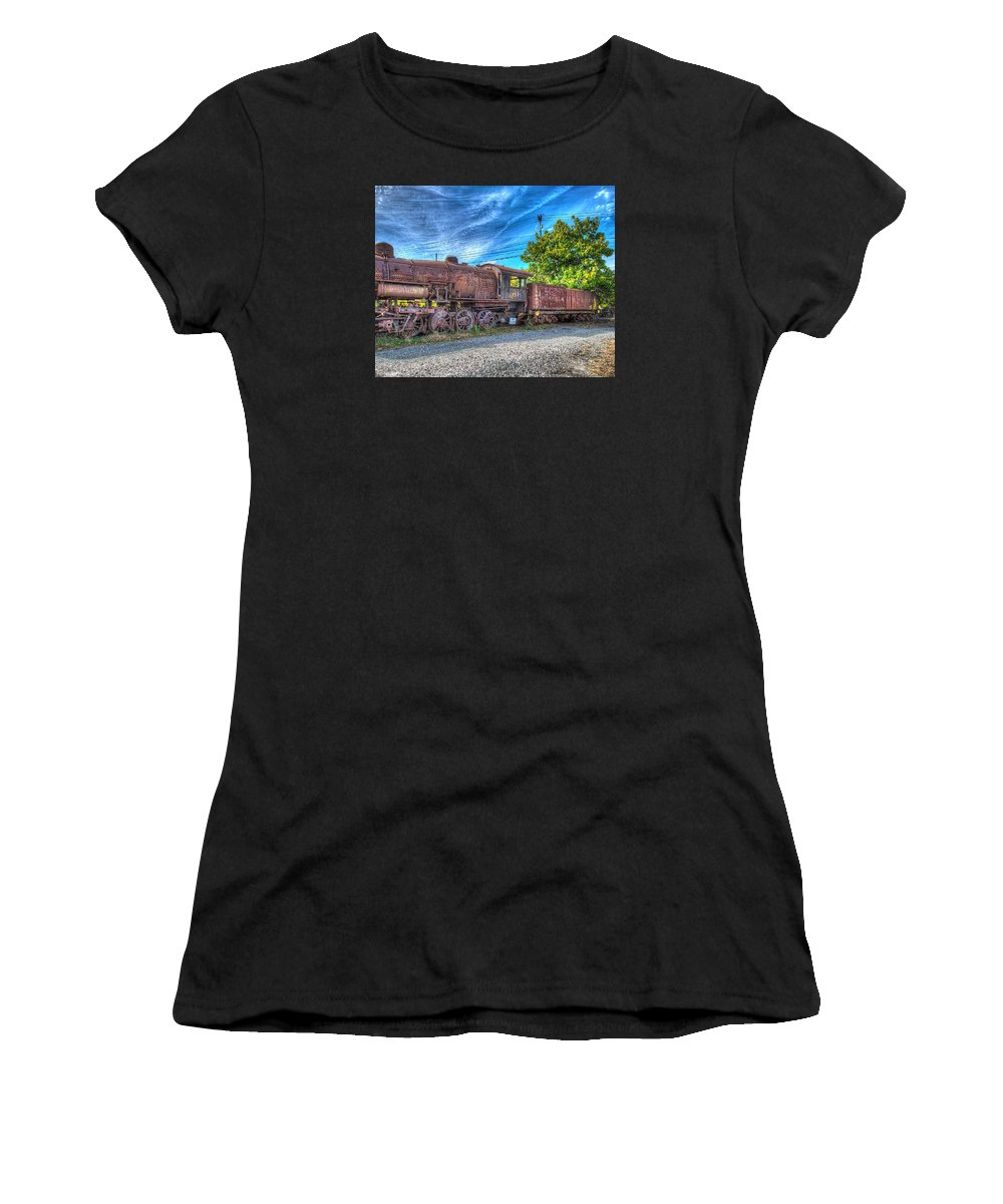 Historic Women's T-Shirt (Athletic Fit) featuring the photograph Steam Locomotive No 1151 Norfolk And Western Class M2c by Greg Hager