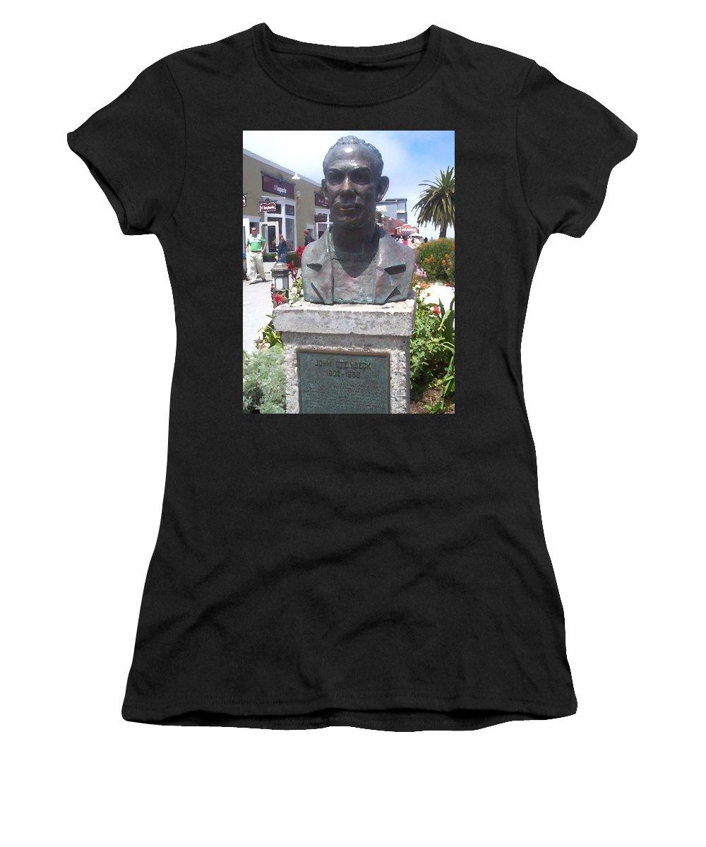 Steinbeck Women's T-Shirt featuring the digital art Steinbeck Or Bust by Pharris Art