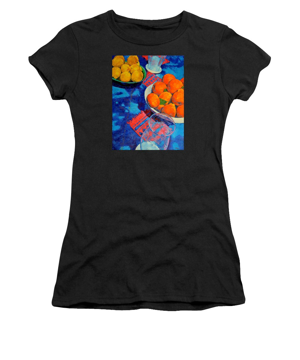 Still Life Women's T-Shirt (Athletic Fit) featuring the painting Still Life 2 by Iliyan Bozhanov