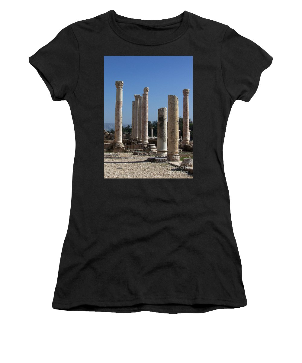 Israel Women's T-Shirt (Athletic Fit) featuring the photograph Still Standing by Kathy McClure