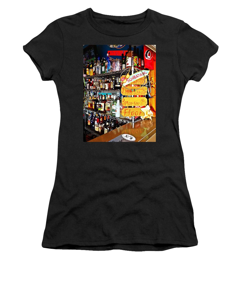 Alcohol Women's T-Shirt featuring the photograph Stocked Bar At Jax by Joan Meyland