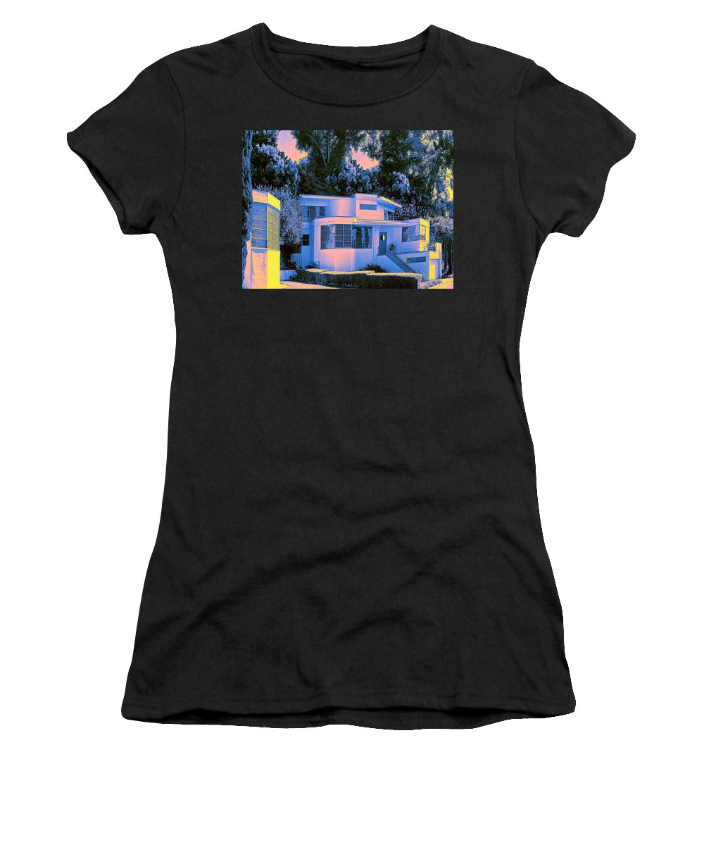 Art Deco Women's T-Shirt (Athletic Fit) featuring the photograph Streamline Moderne by Dominic Piperata