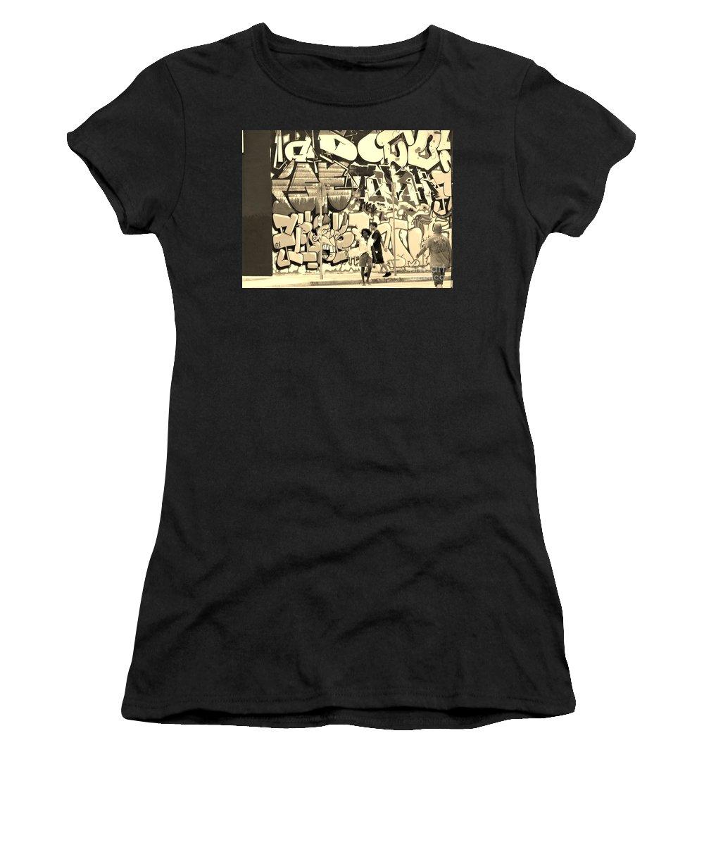 Art Women's T-Shirt featuring the photograph Street Crossing by Chuck Hicks
