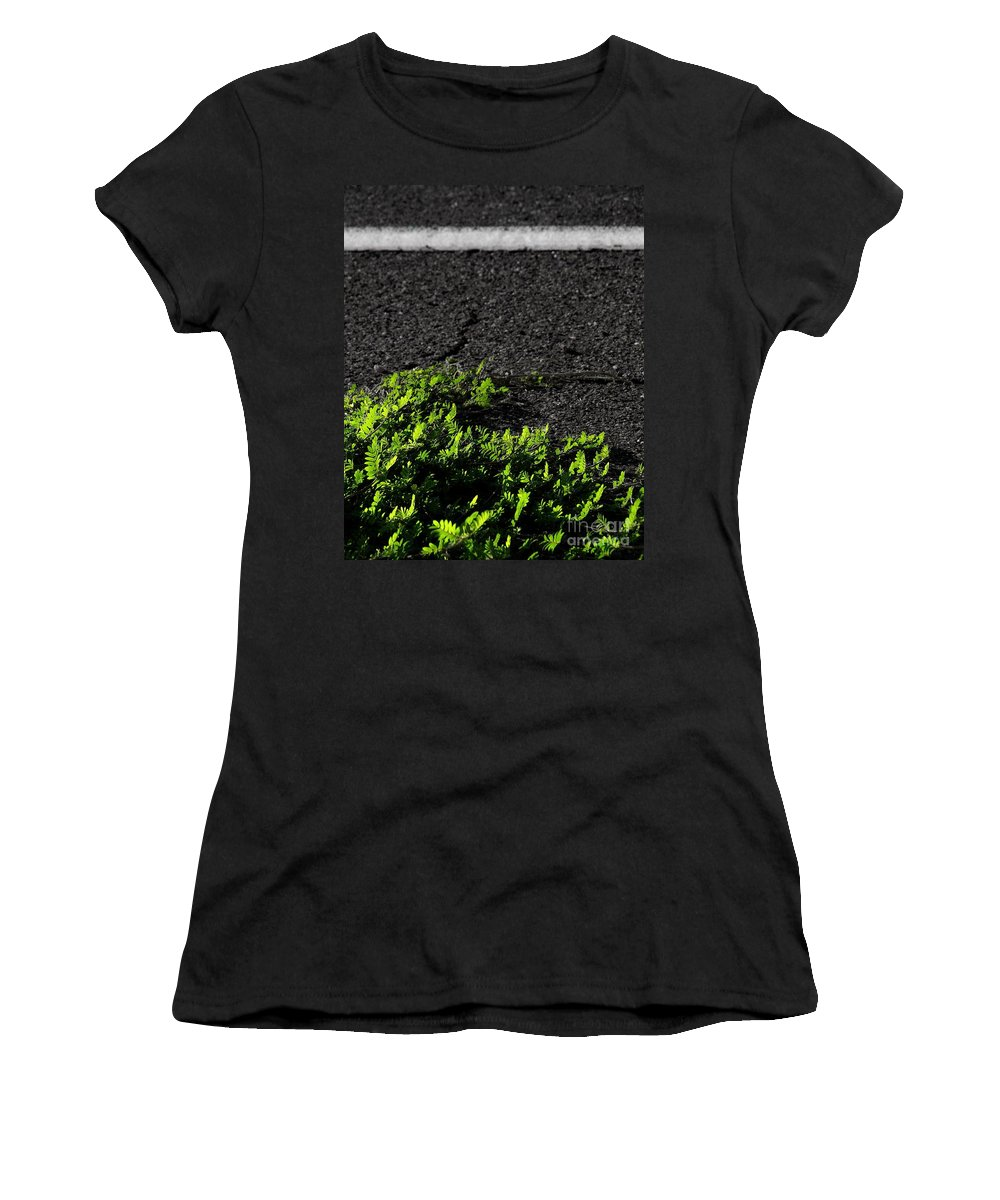 Digital Color Photo Women's T-Shirt featuring the digital art Street Growth by Tim Richards