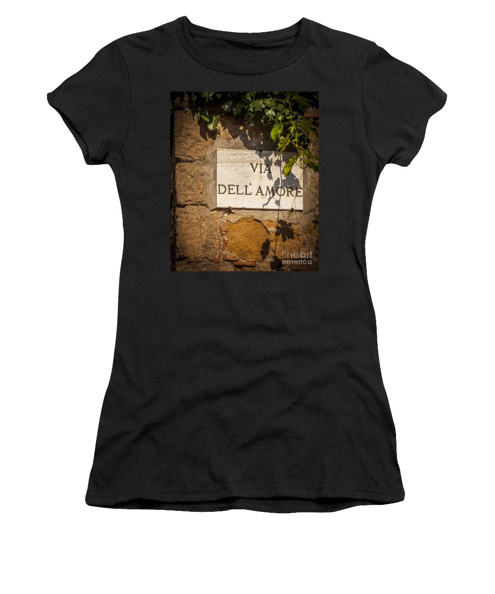 Europe Women's T-Shirt featuring the photograph Street Of Love by Brian Jannsen