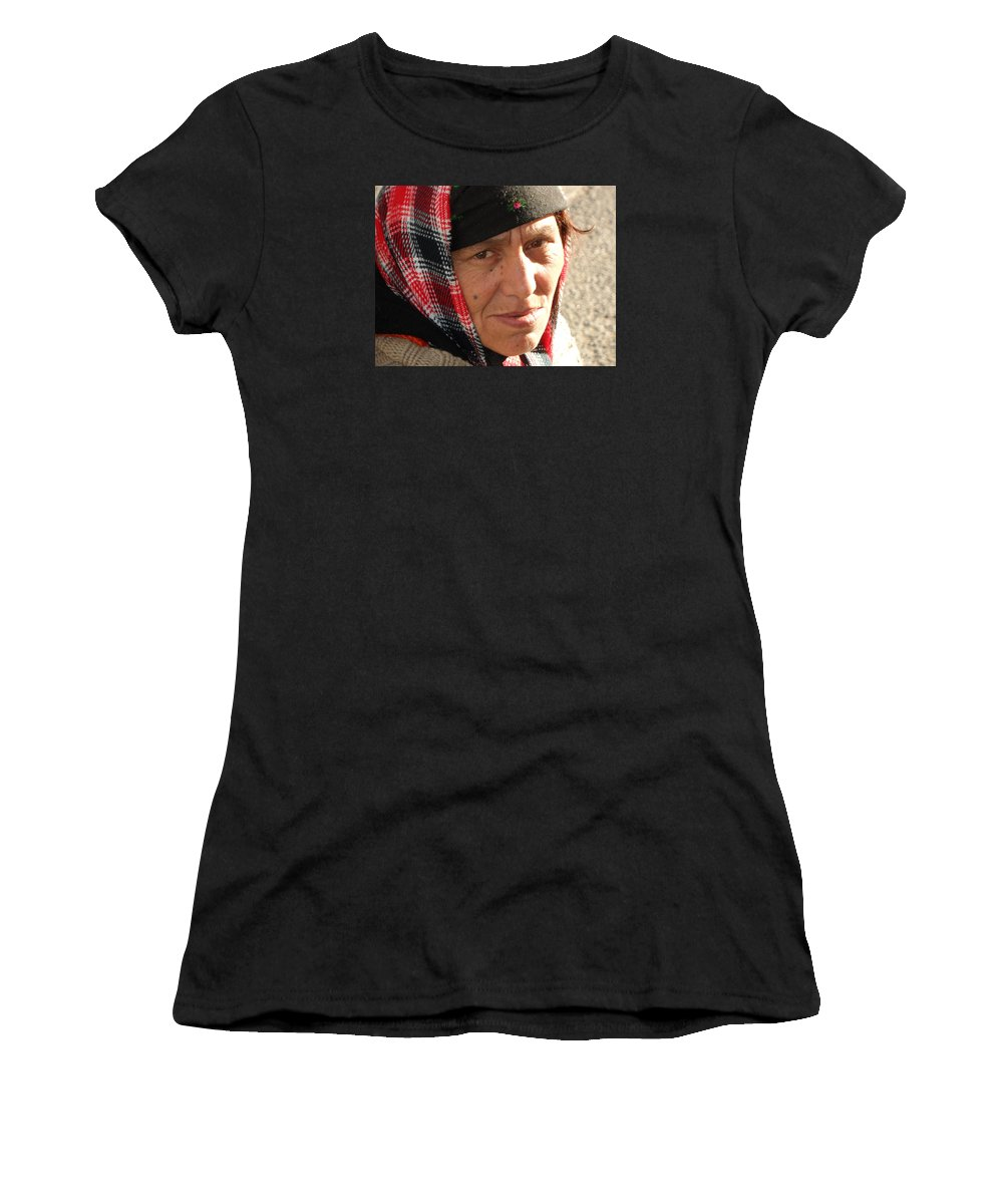 Fine Women's T-Shirt featuring the photograph Street People - A Touch Of Humanity 19 by Teo SITCHET-KANDA