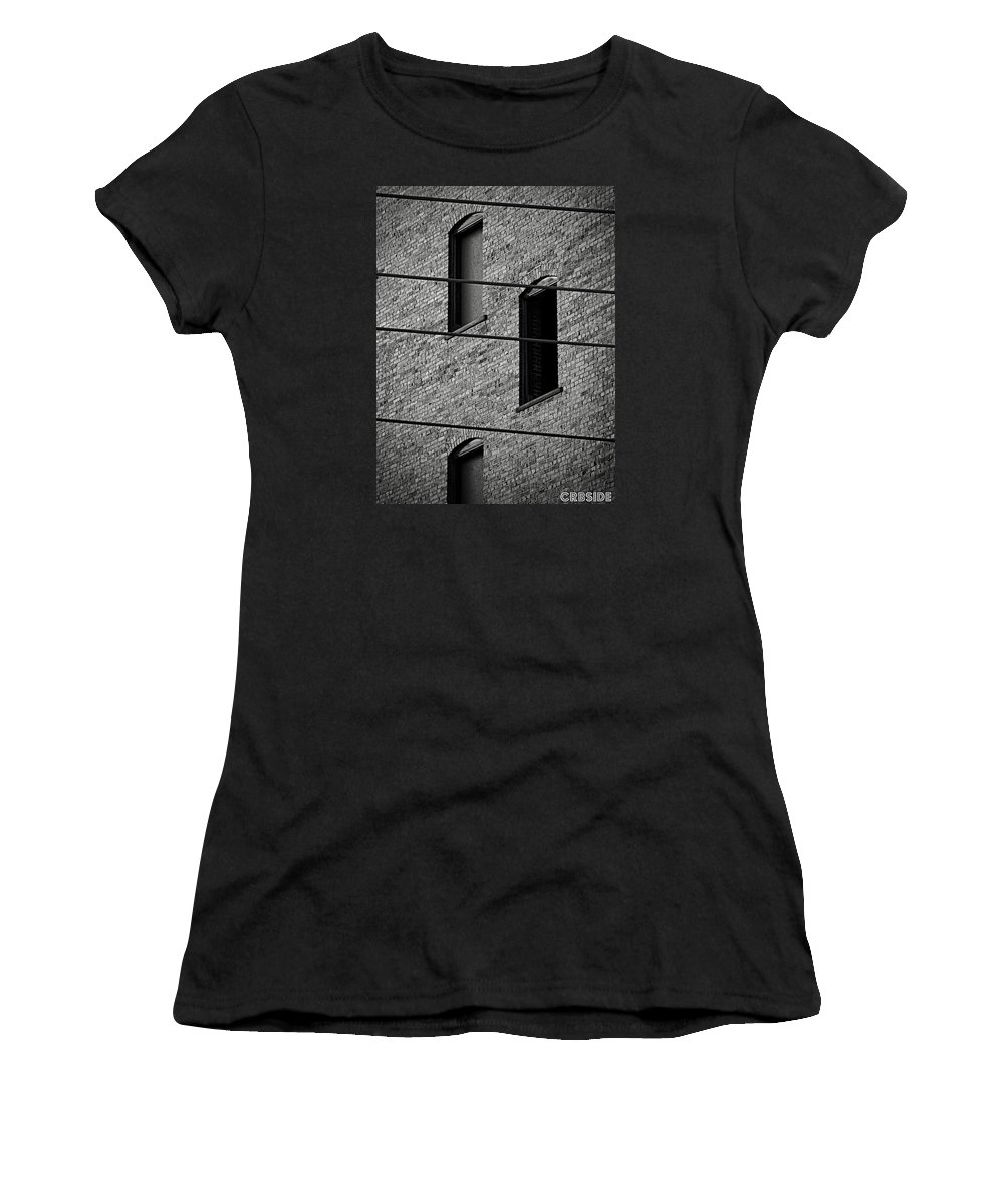 Building Women's T-Shirt (Athletic Fit) featuring the photograph Guitar Frets And Strings by Chris Berry