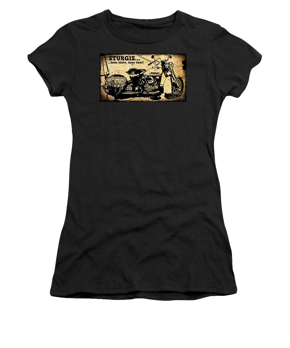 Turquoise Beauty Women's T-Shirt featuring the photograph Sturgis Been There Done That by John Malone