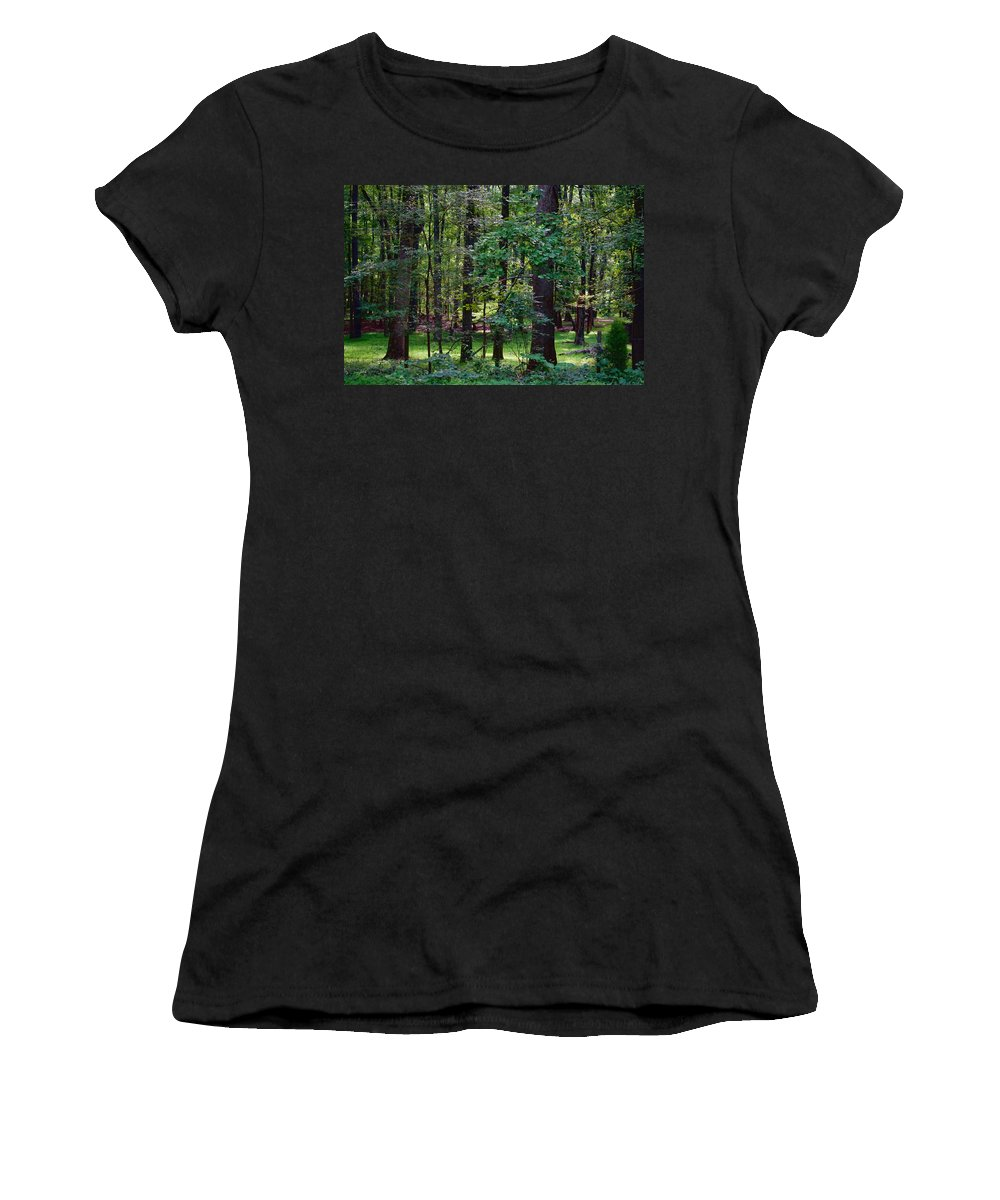 Nature Women's T-Shirt (Athletic Fit) featuring the photograph Summer Forest by Paulette B Wright