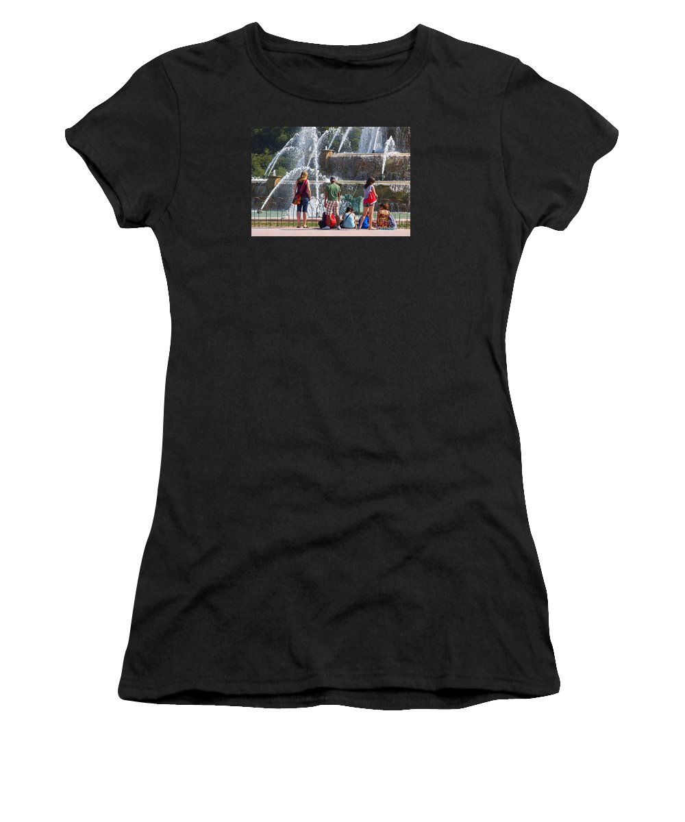 Chicago Women's T-Shirt (Athletic Fit) featuring the photograph Summer Resting Place by Ann Horn