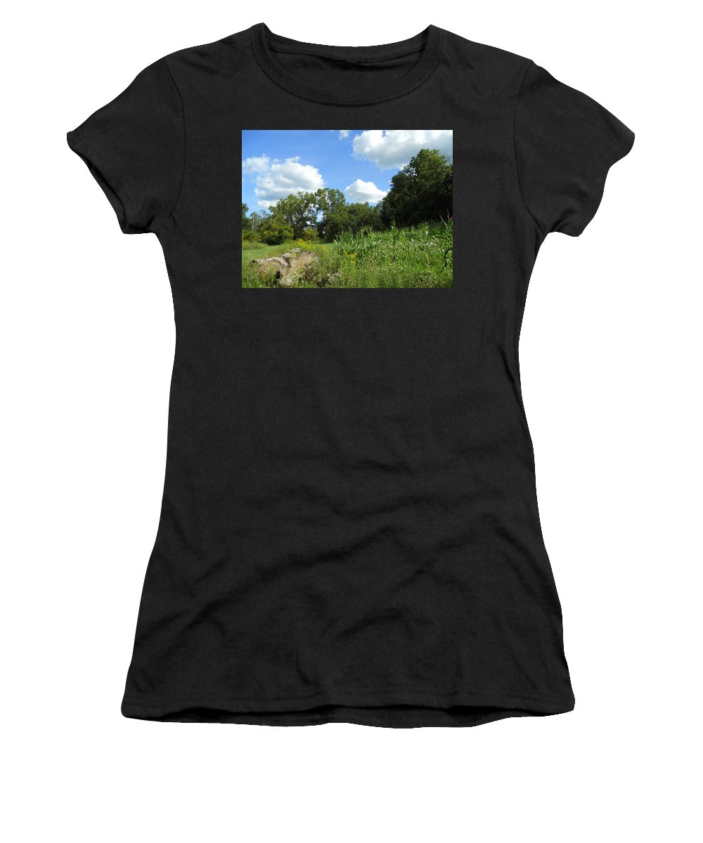 Skylines Women's T-Shirt (Athletic Fit) featuring the photograph Summer Scenery by Coleen Harty