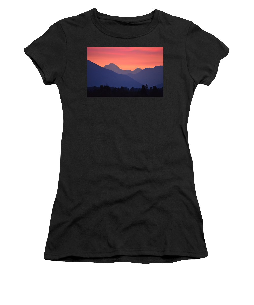 Sunrise Women's T-Shirt featuring the photograph Summer Sunrise by Whispering Peaks Photography