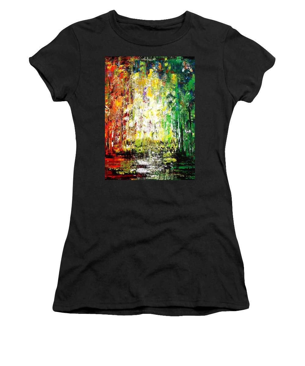 Forest Women's T-Shirt featuring the mixed media Summertime 3 by Kume Bryant